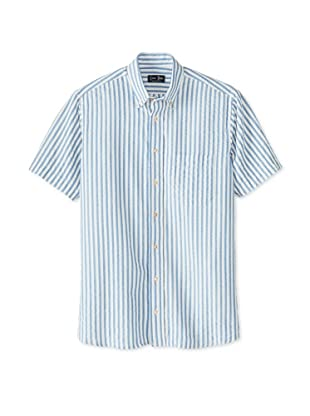 Gitman Blue Men's Seersucker Stripe Shirt (White)