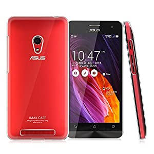 Heartly Imak Crystal Clear Hot Transparent Flip Thin Hard Bumper Back Case Cover For Asus Zenfone 4 A450CG