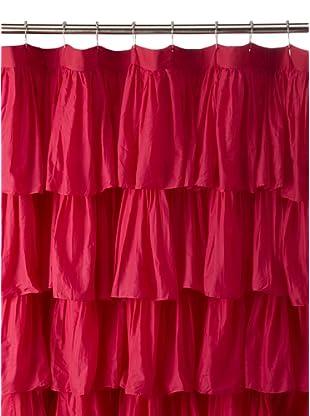 India Rose Magenta Ruffled Shower Curtain, Hot Pink, 72