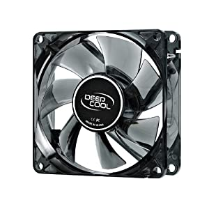 Deepcool Windblade 80 mm Semi Transparent Cooling Fan with Blue LED (Black) (PC)