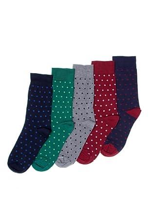 Sockaholic Pack de 5 Pares Calcetines Caña Baja Nicola+Isabel+Sabin+Iñigo+Andrea (Multicolor)