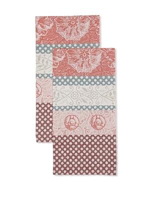 Garnier-Thiebaut Set of 2 Stuc Figue Kitchen Towels
