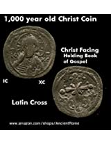 1,000 Year Old Jesus Christ Coin Facing Nimbate Book Of Gospels. Nicephorus. Unique Gift. Novelty