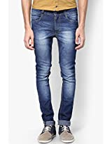 Blue Skinny Fit Jeans John Players
