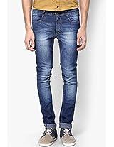 Blue Skinny Fit Jeans John Players