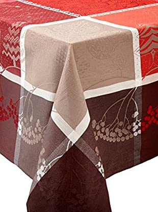 Garnier-Thiebaut Santa Klaus Cerise Tablecloth (Red)