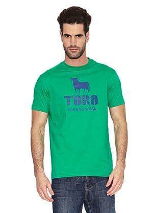 Toro Camiseta Casual (Verde)