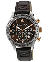Nautica Chronograph Brown Dial Men's Watch  - NTA17655G