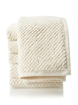 "Coyuchi Set of 6 Organic Cotton Airweight Washcloths, Ivory, 12"" x 12"""