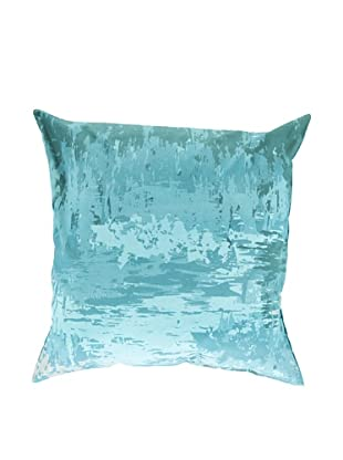 Surya Watercolor-Inspired Throw Pillow, Blue/Turquoise, 22