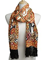 Ed Hardy Womens Panther Knit Scarf - Mustard