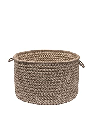 Colonial Mills Natural Wool Houndstooth Basket, (Latte)