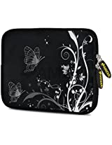 Amzer 7.75-Inch Designer Neoprene Sleeve Case Cover Pouch for Tablet, eBook and Netbook - Black Butterfly (AMZ5107077)