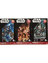 Bundle Lot Of 3 Star Wars 300 Piece Jigsaw Puzzles By Disney