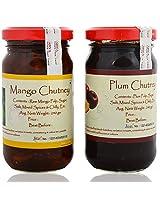 Preserves Naturally Mango Chutney and Plum Chutney (240 g x 2) (Pack of 2)