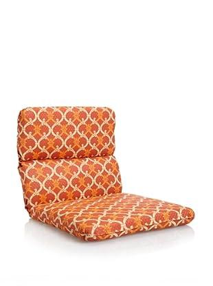 Waverly Sun-n-Shade Heat Wave Rounded Chair Cushion (Mango)