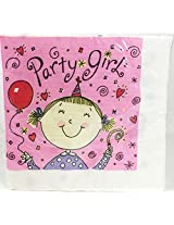 Party Girl Party Theme - Large Napkins (16 Count)