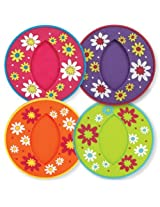 CR Gibson Sipper Slippers, Slip-On Silicone Stemware Coasters, Daisy