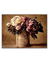 TIA Creation Vase and Flower Canvas 0400 Print on Cotton Canvas 31inch x 22inch