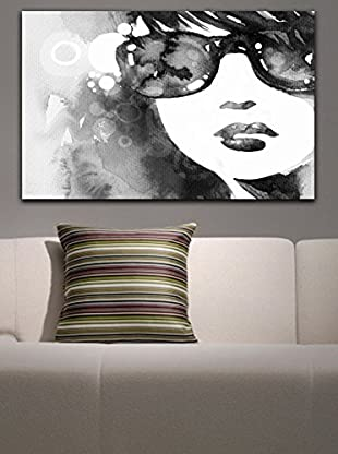 Homemania  Panel Decorativo Canvas Gris/Blanco
