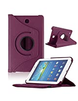 TGK Leather 360 Degree Rotating Case Cover Stand for Samsung Galaxy Tab 4 7.0 Inch T230,T231,T235 - Purple