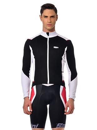 Santini Shirt Thermo (Schwarz/Weiß)