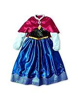 Disney Frozen Annas Costume Dress with Cape Size S 5/6