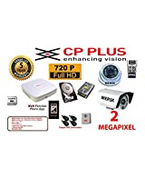 4CH CP PLUS dvr MERSK Cameras 1pcs -6arry Dome camera 2 megapixel MERSK Cameras 1pcs - 36led bullet camera 2 megapixel power supply 250GB Hard Disk 4 High quality copper BNC connectors 1 audio microphone (Note CAMERAS ARE OF MERSK BRAND MADE IN TAIWAN)