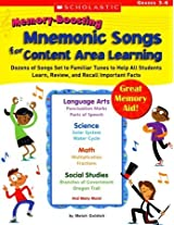 Scholastic 978-0-439-60306-5 Memory-Boosting Mnemonic Songs for Content Area Learning