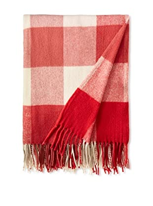BRUN DE VIAN-TRIAN Merino Plaid Throw, Braises