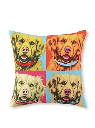 Woofhol Golden Retriever Pillow