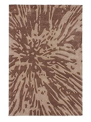 Handmade Nirvana Wool Rug, Brown/Ivory, 5' x 7' 6