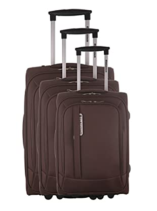 Platinium Set 3 Trolleys Mazzola (Chocolate)