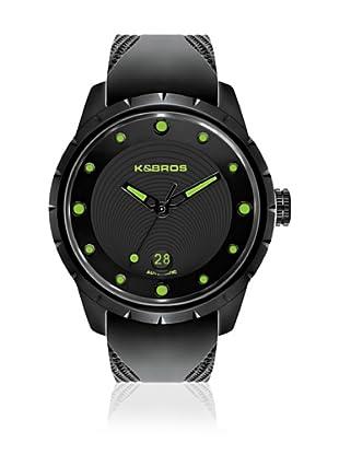 K&BROS Reloj 9454 (Negro Verde)