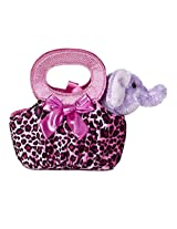 Aurora World Fancy Pals Plush Toy Pet Carrier, Elephant Jungle Pop
