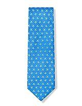 Men's 100% Silk Ocean Blue Starfish Beach Theme Tie Necktie Neckwear