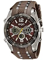 Maxima Ego Analog-Digital Brown Dial Unisex Watch - E-33112PPAN