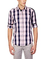 GHPC Men's 100% Cotton Casual Shirt(CS62742_40_Pink)