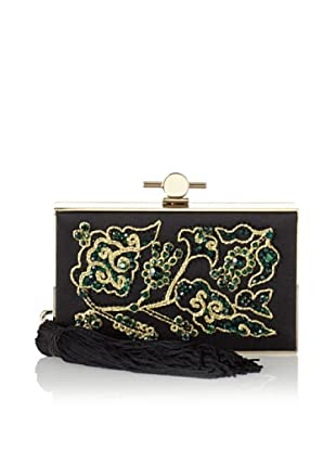 Jason Wu Women's Daphne Crystal Box Clutch, Jade Green/Gold