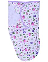 Baby Bucket Baby Swaddle Wrap Soft Envelope for Newborn (Pink Birds)