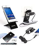 Riona Mobile holder A2 Black + Hanger Stand + Cable Organizer + Scratch Guard Pads