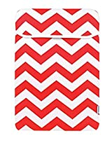 TopCase Chevron Series Red Sleeve Bag Cover for All 15 15-inch Laptop Notebook / Macbook Pro with or without Retina Display - with TopCase Chevron Mouse Pad
