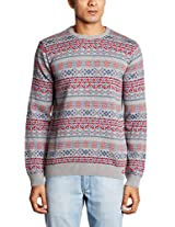 Basics Men's Crew Neck Cotton Sweater