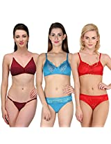 Urbaano Multi MARIEE Bridal Set - URM0905T - Red , Blue , Maroon (34)