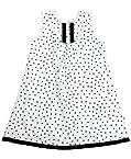 COO COO Sleeveless A Line Dress - Star Print