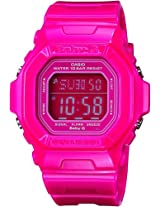 Casio Women's BG5601-4DR Baby-G Square Luminous Color Pink Digital Watch