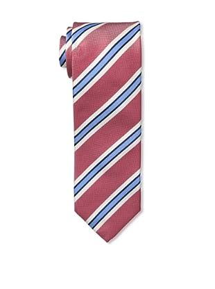 Massimo Bizzocchi Men's Triple Stripe Tie, Red