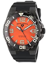 Swiss Legend Men's 10008-BB-06 Expedition Orange Dial Black Silicone Watch