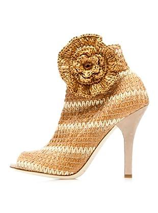 Dolce & Gabbana Botines Flor (Marrón)