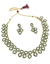 Bollywood Inspired Ethnic Kundan Necklace Set For Women by Shining Diva